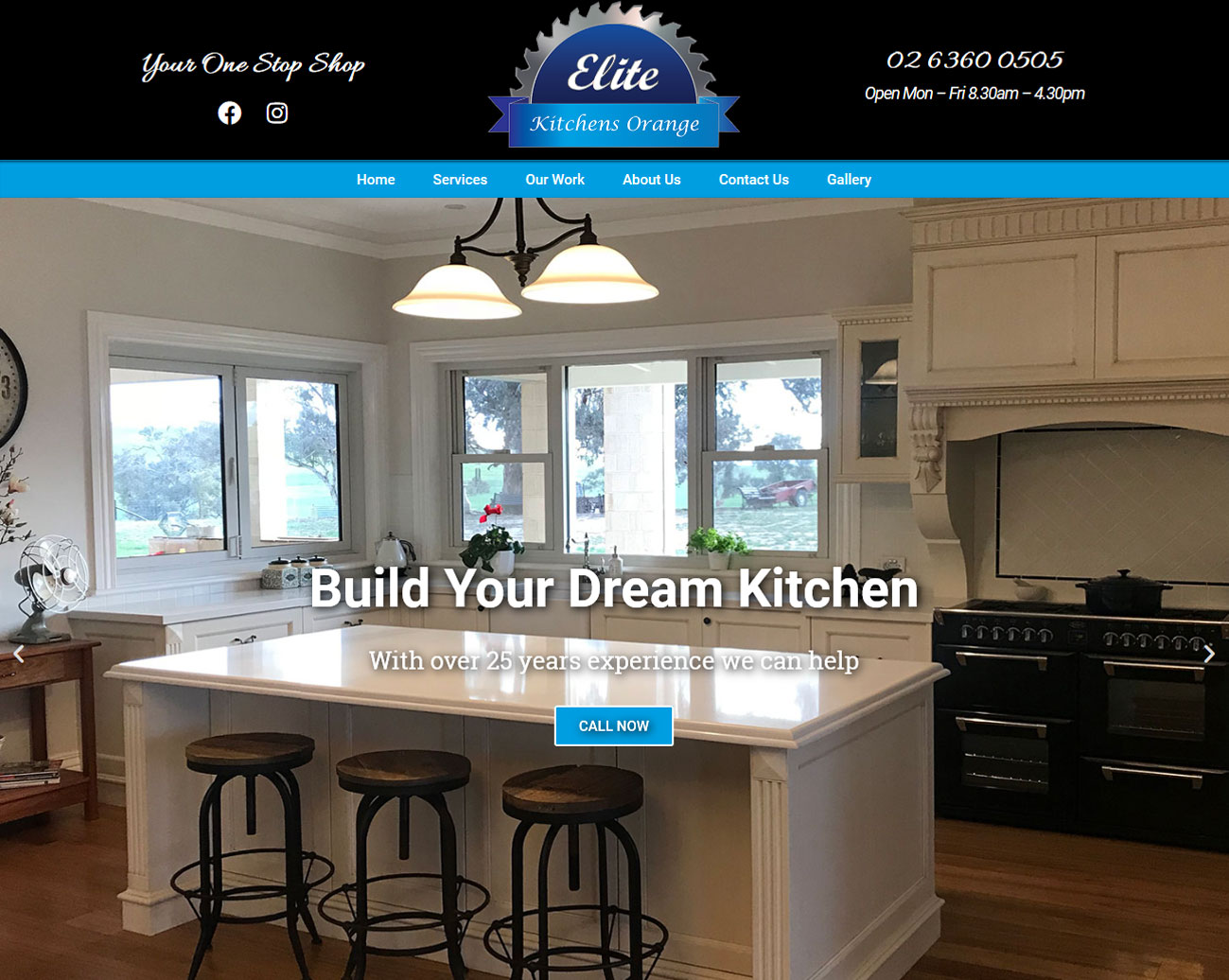 Elite-Kitchens-Orange-Portfolio-Website-Created